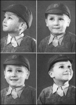 Four photos of a young John Lennon during his Dovedale Primary School days.