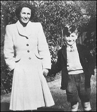 John Lennon with his Aunt Mimi Smith.